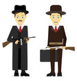gangsters flat isolated on white background vector image