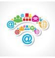 Social media icons make wifi sign stock vector image