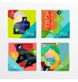 Flat design square shape infographic banner vector image vector image