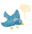 cartoon garden bird with speech bubble vector image