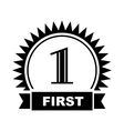 First place icon simple style vector image