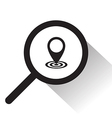 magnifying glass with pointer icon vector image