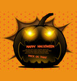 abstract pumpkin halloween background vector image