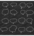 Abstract speech bubbles A set of hand-drawn vector image