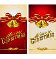 Christmas Menu Card Bells vector image