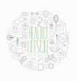 Healthy lifestyle symbols set vector image