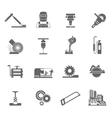 Metal-working Icon Set vector image