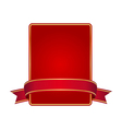 Red frame with banner vector image