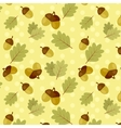 seamless fall pattern with oak leaves and acorns vector image