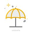 Thin line icons Umbrella vector image