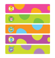 Colorful web kids banners vector image vector image