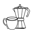 coffee related icons image vector image