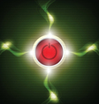 power button with electricity sparking vector image