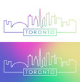 toronto skyline colorful linear style editable vector image