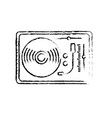 figure turntable to listen and play music vector image