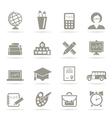 School an icon3 vector image