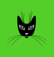 cat mask vector image vector image