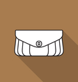 Stylish handbag icon vector image