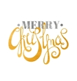 Gold and silver textured text Merry Christmas vector image vector image