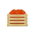 wooden crate with oranges vector image