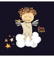 Angel playing the flute vector image