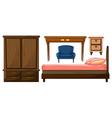 Bedroom furnitures vector image