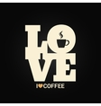 coffee concept label background vector image
