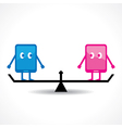 Comparison of two tablet stock vector image