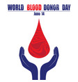 donate blood concept with abstract blood drop for vector image