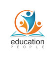 people education logo vector image