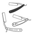 set of the razors isolated on white background vector image