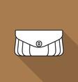 Stylish handbag icon vector image