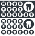 tooth icons teeth silhouettes vector image