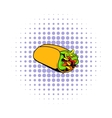 Wrap sandwich icon comics style vector image