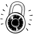 doodle lock combination vector image vector image