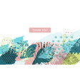 tropical style universal floral header vector image vector image