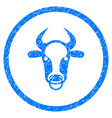 bull ring rounded grainy icon vector image