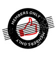 members only rubber stamp vector image
