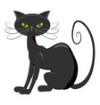 black cat icon cartoon style vector image