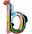 Grunge colorful font Letter b vector image vector image