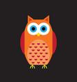 cartoon owl icon vector image vector image