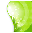 Green Leaves On Natural Background vector image vector image