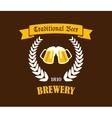 Traditional Beer emblem or label vector image