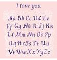 romantic Handwritten watercolor letters vector image vector image