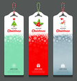 Merry Christmas label and rope vertical design vector image