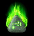 Runic stone vector image