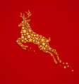 abstract white deer vector image