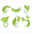 collection of leaf images vector image
