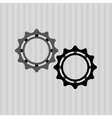 gears settings design vector image
