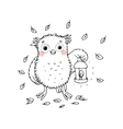 Owl with a lantern vector image